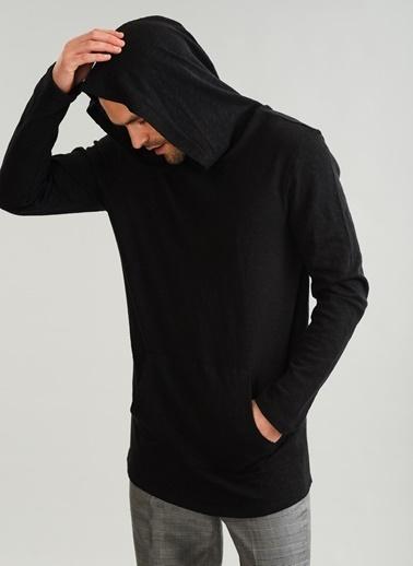 People By Fabrika Kapüşonlu Cepli Sweatshirt Siyah